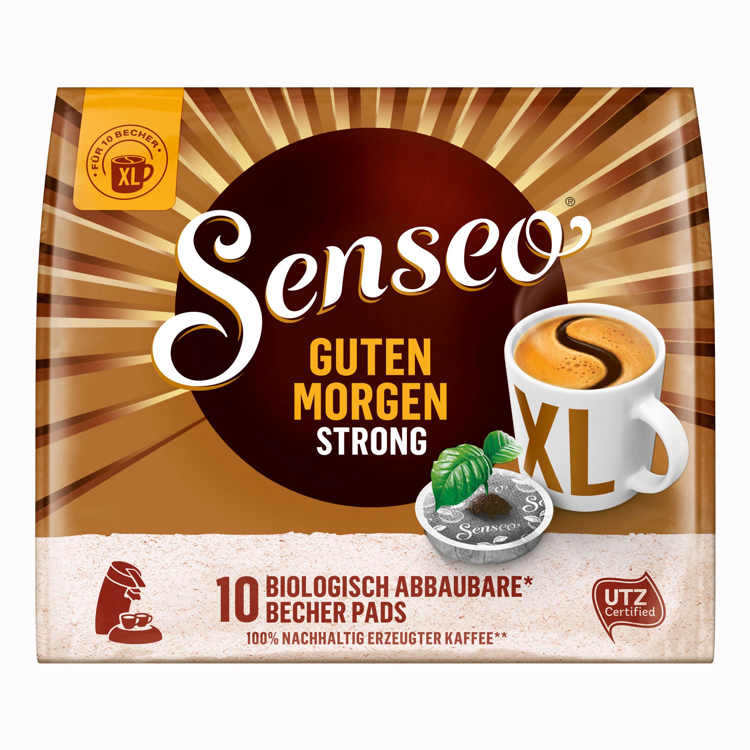 Senseo Kaffeepads Guten Morgen Strong Xl Stark Intensiv 10 Kaffee Pads 125 G At About Teade Shop